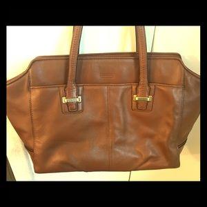 Camel coach purse
